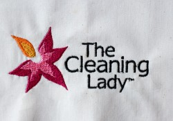 The Cleaning Lady embroidered logo