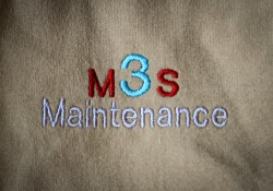 M3S Maintenance embroidered logo