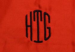 Custom Monogram embroidery