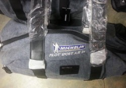 Michelin embroidered travel bag